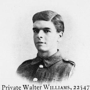 LANCE CORPORAL WALTER WILLIAMS, 11 BATTALION, SOUTH WALES BORDERERS
