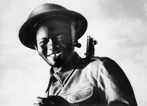 AN AFRICAN VILLAGER JOINS THE PIONEERS, EAST AFRICA, C. 13 SEPTEMBER 1943