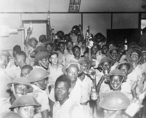 SOUTH CARIBBEAN FORCE LEAVES WEST INDIES FOR ACTIVE SERVICE, C. 23 OCTOBER 1944