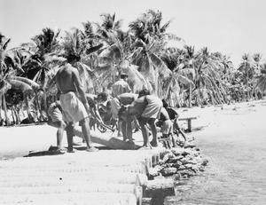 BRITISH ADMINISTRATION RESTORED IN THE GILBERT ISLANDS, C. 8 NOVEMBER 1944