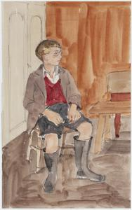 WVS Settlement, Fairford. Ivor Tully, an evacuee from Barking