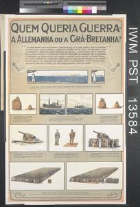 Quem Queria Guerra - A Allemanha ou a Grã-Bretanha? [Who Wanted the War - Germany or Great Britain?]