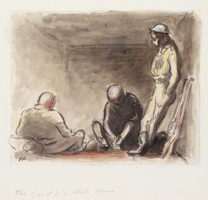 The Guard in a Block House (three soldiers)