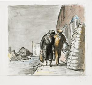 The Trek to the Shelters, Silvertown, September 1940