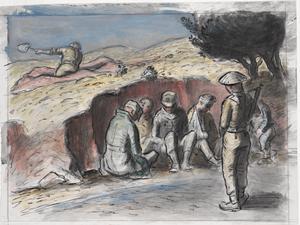 Prisoners beside the Road near Homs