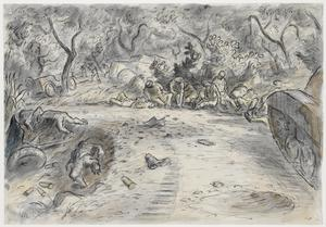Battle in an Orchard of Almond Trees in Sicily: Morning of July 21st 1943