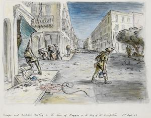 Troops and Civilians Looting in the Town of Reggio, Italy: on the day of its occupation, 3rd September 1943