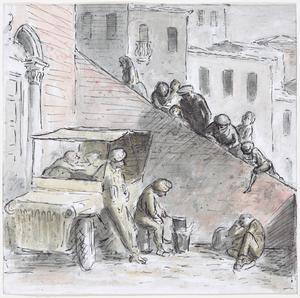 Villagers Watching Soldiers Brewing-up in Sant'Arcangelo