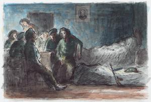 A Group of Partisans in a Farmhouse at Night