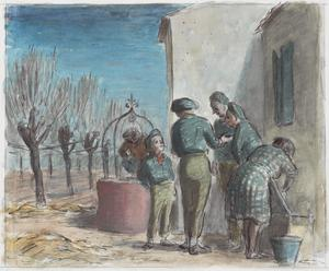 A Group of Partisans by a Pink Well