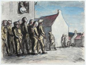 West Country Manoeuvres: Infantry Halted in a Village