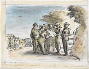 West Country Manoeuvres: The Colonel Explains The Situation To A Party Of War Correspondents