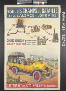 Visite des Champs de Bataille et de l'Alsace-Lorraine [Tour of the Battlefields and Alsace-Lorraine]