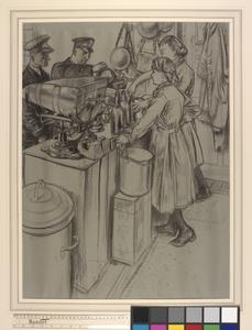 WRNS Drawing the Chief's and PO's Grog