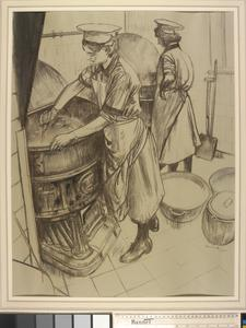 WRNS Making Soup in the Galley