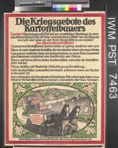 Die Kriegsgebote des Kartoffelbauers [The War Commandments of the Potato Grower]