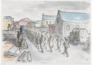 Arrival of American Troops in Northern Ireland, January 1942: The March from the Docks