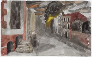 Armentieres after Bombing, May 1940