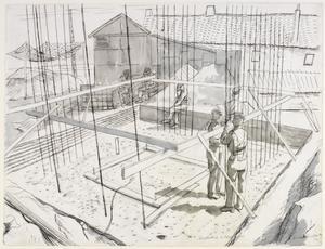 Constructing a Blockhouse, Halluin