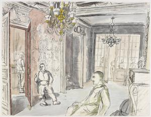 The Officers' Mess, 5th Manchesters, Halluin