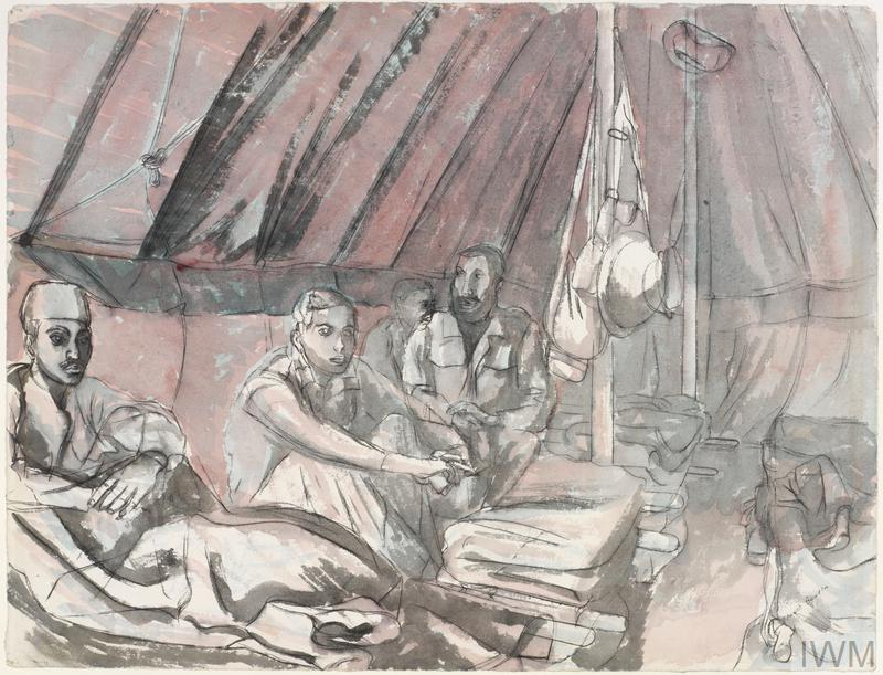 The Indian Ward at the South African 18th Casualty Clearing Station: Maaten Bagush