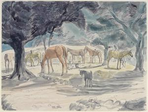 Horse Lines: RIASC 8th, 10th and 12th Indian Mule Coys, Zghorta, Syria