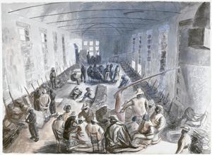 Cesena : the barrack-room of a Basuto Pioneer Company under winter conditions