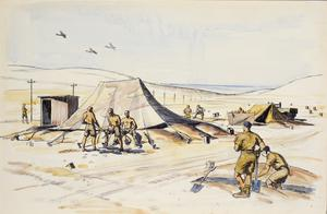 Digging Slit Trenches : El Dab'a, Western Desert