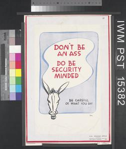 Don't be an Ass - Do be Security Minded