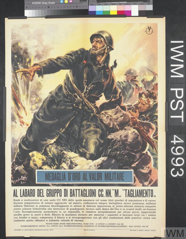 Nn' >> Medaglia d'Oro al Valor Militare - Al Labaro del Gruppo di Battaglioni CC. NN. 'M' 'Tagliamento ...