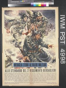 Medaglia d'Oro al Valor Militare - Allo Stendardo del Terzo Reggimento Bersaglieri [Gold Medal of Military Valour - To the Banner of the Third Bersaglieri Regiment]
