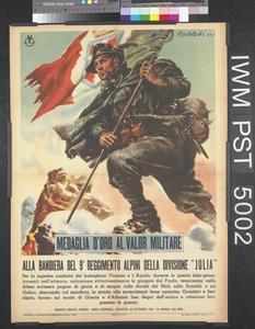 Medaglia d'Oro al Valor Militare - Alla Bandiera del 9° Reggimento Alpini della Divisione 'Julia'