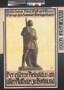 Der Eiserne Reinoldus am alten Rathaus zu Dortmund [Iron Reinoldus at the Old City Hall in Dortmund]