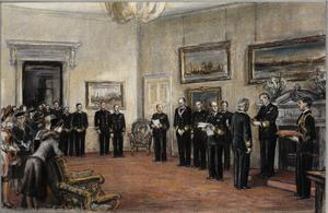 The Second Sea Lord presenting Awards to Allied Naval Officers