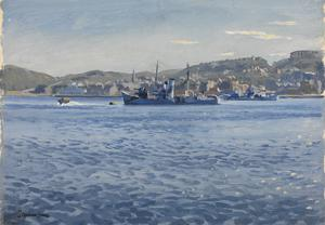 Oban Bay : Asdic trawlers, HMS Paul Rykens and HMS Southern Star