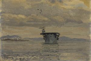 "On Board an Escort Carrier : ""HMS Pursuer"" in Belfast Lough"