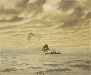 HMS Erebus in Action off Walcheren