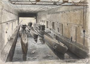 Trondheim: The interior of a submarine pen