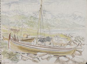 A Boat at Djupvik : Lyngen Fjord