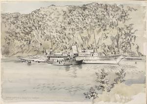 Hitler's Yacht 'Grille' in Asenfjord, near Trondheim