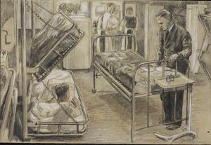 The Sick Bay of HMS Pursuer : December 1943