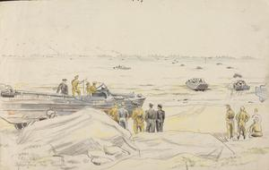 DUKW's at Courseulles : July 1944
