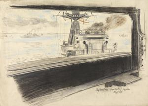 From HMS Rodney's Flag Deck, May 1945
