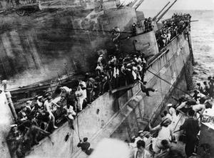 THE SINKING OF HMS PRINCE OF WALES BY JAPANESE AIRCRAFT OFF MALAYA, DECEMBER 1941