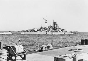 THE GERMAN BATTLESHIP BISMARCK IN THE NORTH SEA, MAY 1941