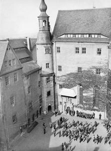 OFLAG IVC PRISONER OF WAR CAMP, COLDITZ CASTLE, DURING THE SECOND WORLD WAR