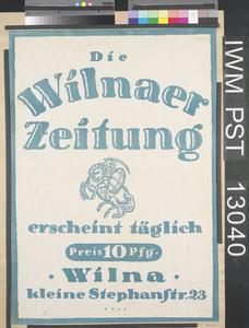 Die Wilnaer Zeitung [The Vilnius Newspaper]
