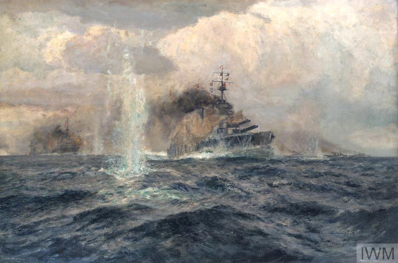 HMS Lion at the Dogger Bank Action, 1915