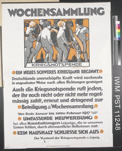 Wochensammlung - Kriegsnotspende [Collection Weeks - Emergency War Appeal]