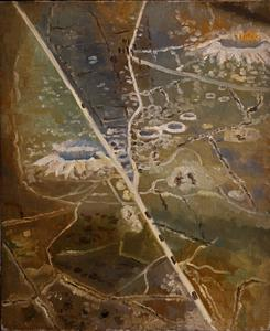 Mine Craters at Albert Seen From an Aeroplane, 1918
